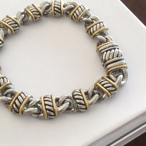 Jewelry - Magnetic Clasp Bracelet - Silver & Goldtone